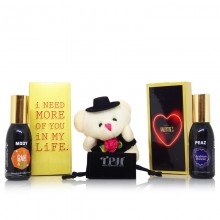 Dual Perfume Teddy Valentine Gift Set for Him